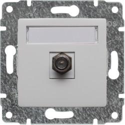 510454 Gniazdo TV SAT pojedyncze  typu F