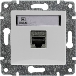 510466 Gniazdo komputerowe poj. RJ45,  bez ramki