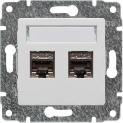510468 Gniazdo komputerowe podwójne 2xRJ45, bez ramki