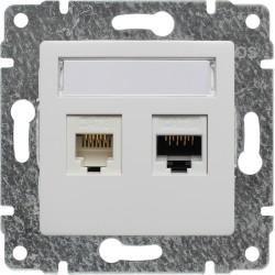 510469 Gniazdo telefoniczno-komputerowe, bez ramki