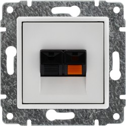 5104771 Gniazdo głośnikowe pojedyncze, stereofoniczne, bez ramki