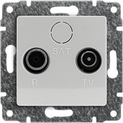 510475 Gniazdo antenowe RTV przelotowe, bez ramki