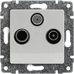 510477 Gniazdo antenowe RTV SAT przelotowe, bez ramki