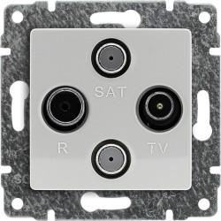 510478 Gniazdo antenowe TV SAT podwójne, bez ramki